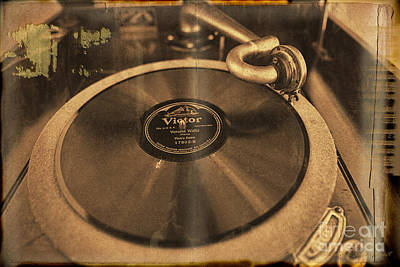 Photograph - Rca Victor Talking Machine Sepia On Page by David Arment