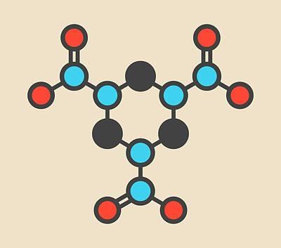 Terrorism Photograph - Rdx Explosive Molecule by Molekuul