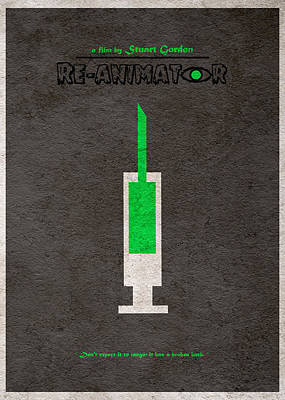 Horror Movies Mixed Media - Re-animator by Ayse Deniz