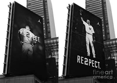Derek Jeter Photograph - Re2pect Billboard Collage by John Rizzuto