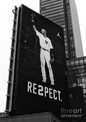 Derek Jeter Photograph - Re2pect Billboard II by John Rizzuto