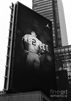 Derek Jeter Photograph - Re2pect Billboard by John Rizzuto