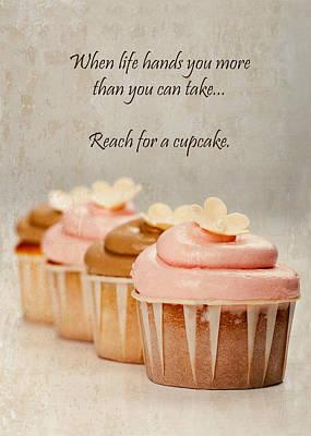 Reach For A Cupcake Art Print by Susan Schmitz