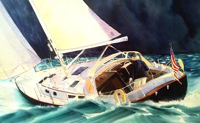 Painting - Reach For Safe Harbor by Don F  Bradford