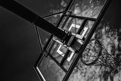 Basketball Abstract Photograph - Reach For The Basket by Karol Livote