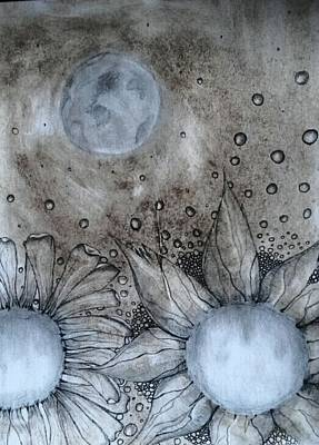 Lori Thompson Drawing - Reach For The Moon by Lori Thompson
