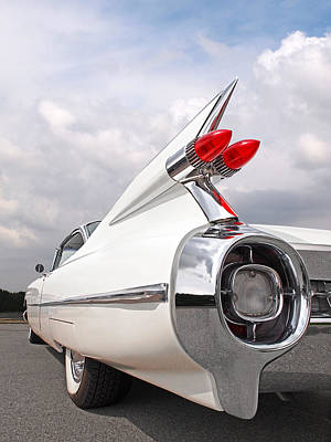 Photograph - Reach For The Skies - 1959 Cadillac Tail Fins by Gill Billington