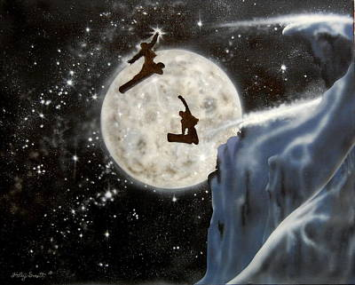 Contemplative Mixed Media - Reach For The Stars by Holly Smith