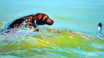Water Retrieve Painting - Reach by Molly Poole