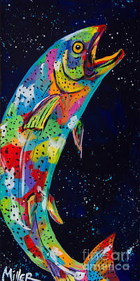 Fish In Art Painting - Reach by Tracy Miller