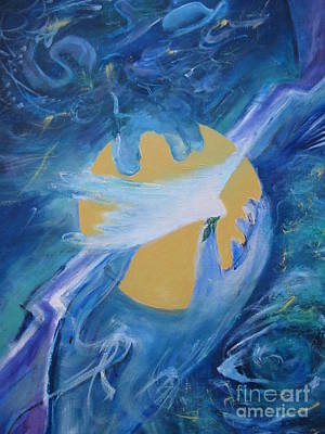 Painting - Reaching For Peace by Myra Maslowsky