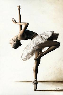 Ballet Painting - Reaching For Perfect Grace by Richard Young