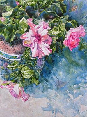 Painting - Reaching For Pretty Pink by Annika Farmer