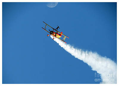 Reaching For The Moon. Oshkosh 2012. Postcard Border. Art Print