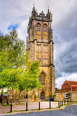 Photograph - Reaching For The Sky - St John's Church Glastonbury by Mark E Tisdale