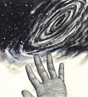 Fingerprint Drawing - Reaching For The Stars by Lee Serenethos