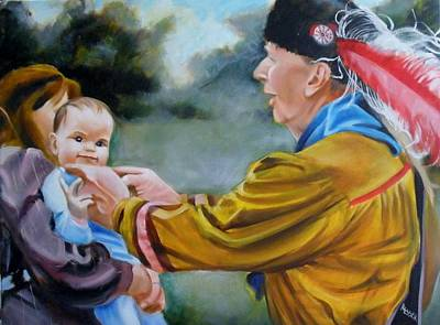 Painting - Reaching Through Generations by Kaytee Esser
