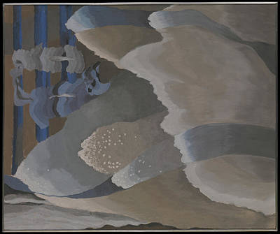 Aluminum Painting - Reaching Waves by Arthur Dove