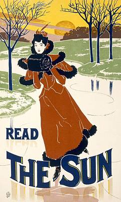Wintry Drawing - Read The Sun by Liebler and Maass