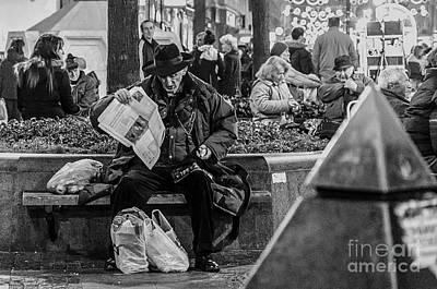 Waif Photograph - Reader by Stefan Stevanovic