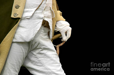 Photograph - Readiness In Revolutionary War Era Uniform by Phil Cardamone