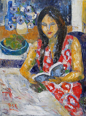 Painting - Reading by Becky Kim