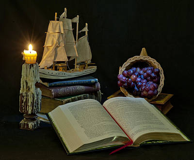 Art Print featuring the photograph Reading By Candlelight by Rick Hartigan