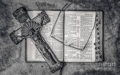 Reading His Word Art Print