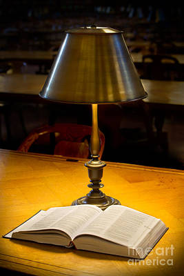 Library Digital Art - Reading Lamp And Book by Jerry Fornarotto