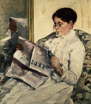 1878 Painting - Reading Le Figaro by Mary Stevenson Cassatt