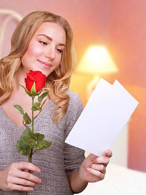 Reading Love Letter Art Print