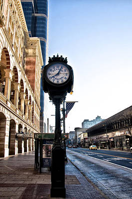 Phillies Digital Art - Reading Terminal Clock - Market Street by Bill Cannon