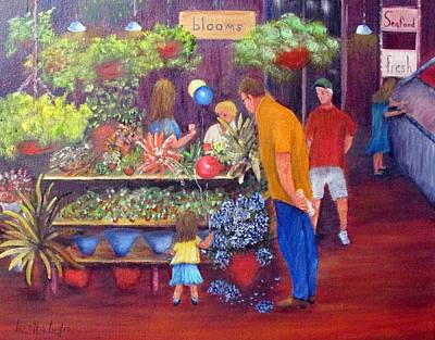 Painting - Reading Terminal Market Flowers by Loretta Luglio