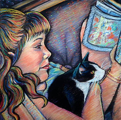 Painting - Reading To Boots by Mary Knape