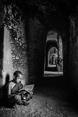 Myanmar Photograph - Readings by Michael Lim