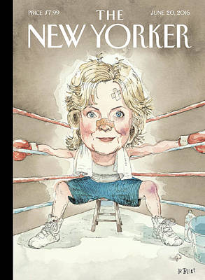 Boxing Painting - Ready For A Fight by Barry Blitt