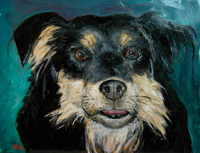 Mongrel Painting - Ready For Anything by Aline Lotter