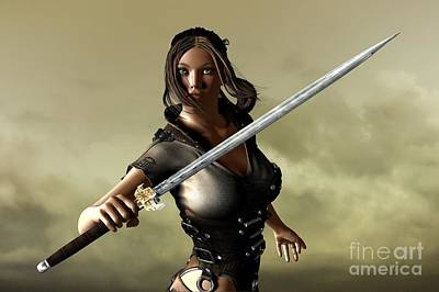 Digital Art - Ready For Battle by Sandra Bauser Digital Art