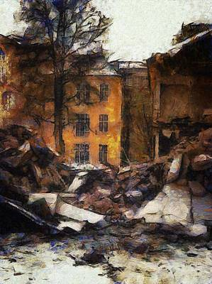 Old House Digital Art - Ready For Demolition by Gun Legler