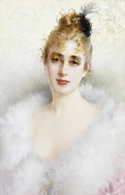 Evening Wear Painting - Ready For The Ball by Vittorio Matteo Corcos