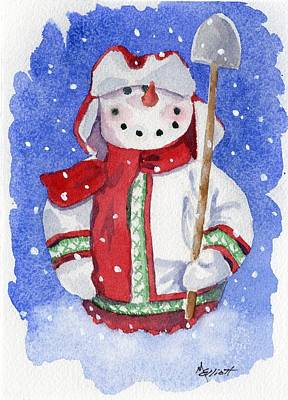 Snow Shovels Painting - Ready For Work by Marsha Elliott