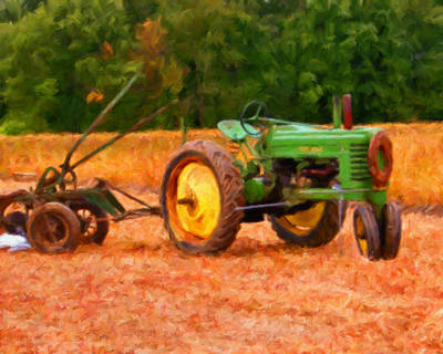 Old Farm Equipment Painting - Ready For Work by Michael Pickett