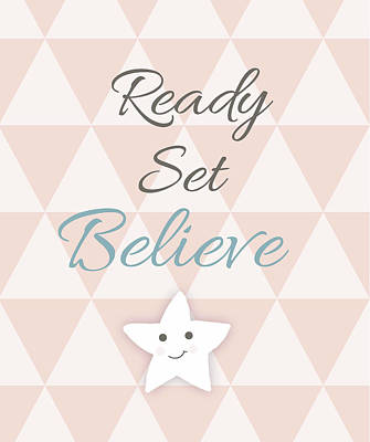 Believe Painting - Ready, Set, Believe by Anna Quach