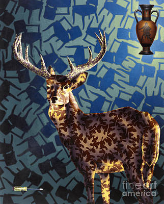 White-tailed Deer Painting - Ready by Stephen Hall