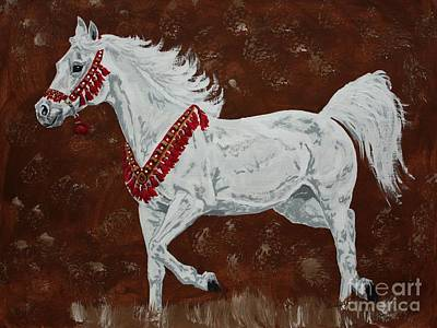 Equine Drawing - Ready To Be Judged Arabian Horse by Lucka SR
