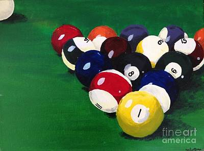 Snooker Painting - Ready To Break by Hailey Dodge