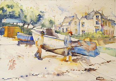 Ready To Fish Art Print by Andre MEHU