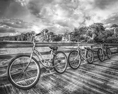 Three Trees Photograph - Ready To Ride In Black And White II by Debra and Dave Vanderlaan