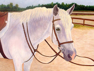 Art Print featuring the painting Ready To Ride by Karen Zuk Rosenblatt