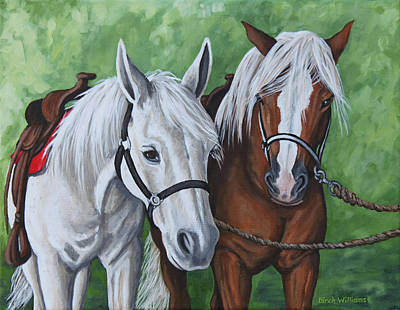 Painting - Ready To Ride by Penny Birch-Williams